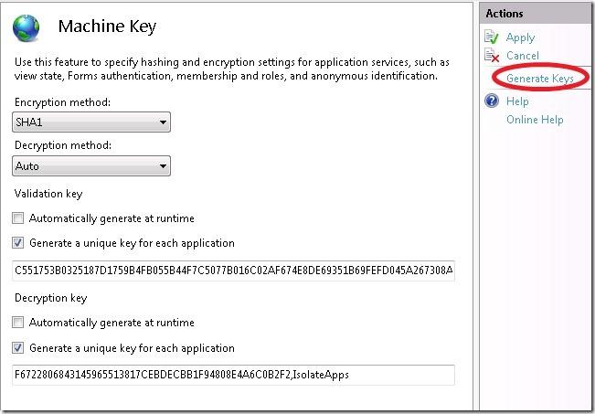 Kx.CloudIngenium.com - Machine Key on IIS 7