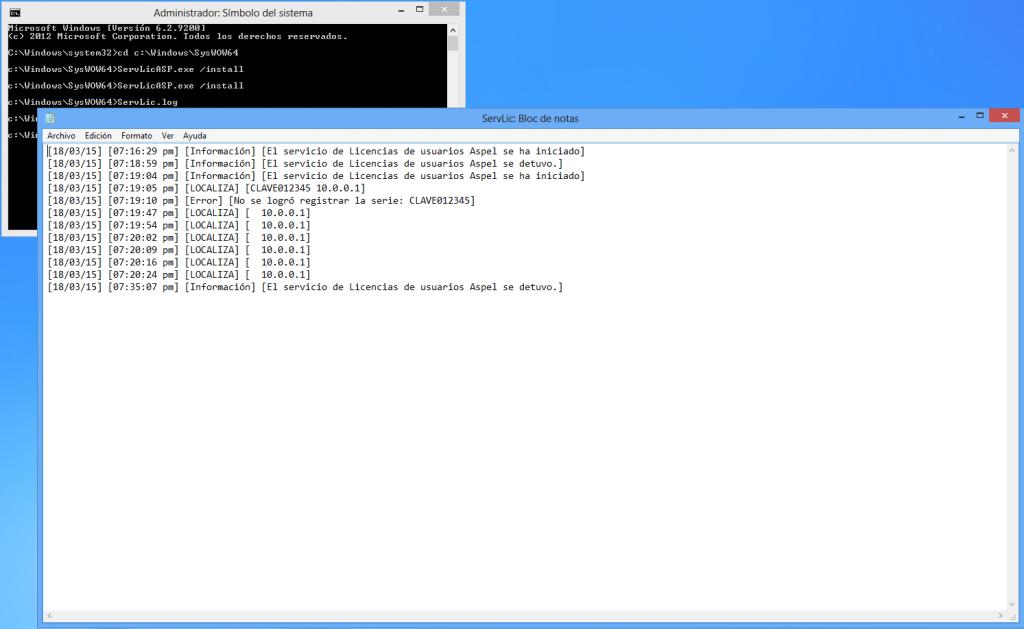 Kx.CloudIngenium.com - Aspel Como instalar y activar el servidor de licencias - Registro de Sucesos