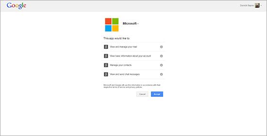 Kx.CloudIngenium.com - How to Migrate from Gmail to Outlook.com (previously Hotmail.com and Live.com) - Step 2, Oauth Authorization