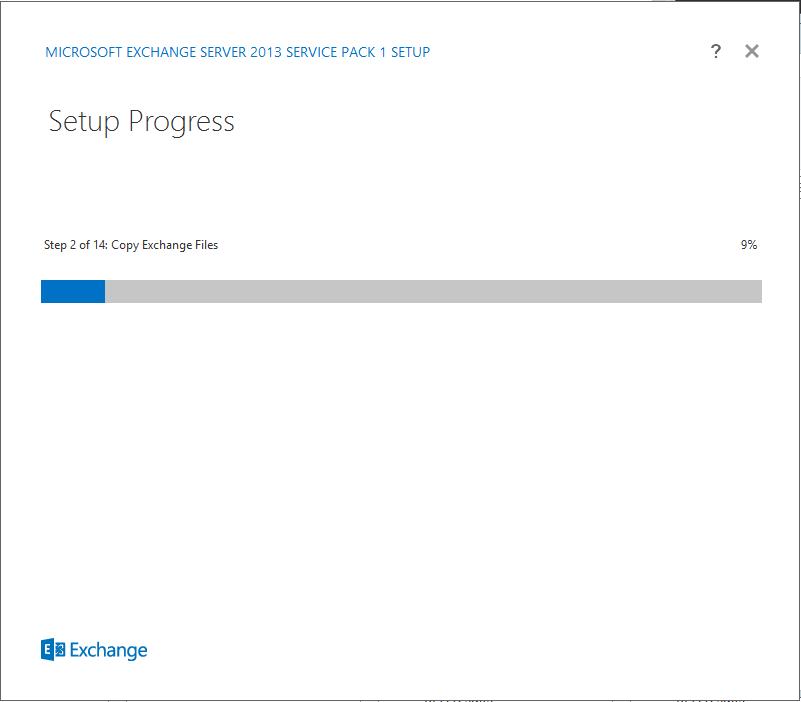 Kx.CloudIngenium.com - How to Install Exchange Server 2013 SP1 - Progressing